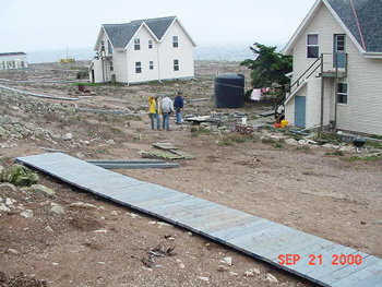 Boardwalk replacement on the Farallon Islands, 2000.